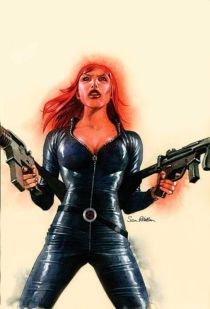Black Widow color art by Sean Phillips