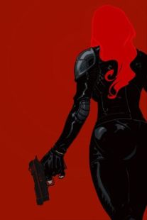 Black Widow color art by Shango