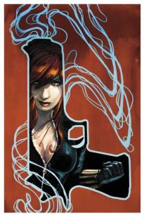 Black Widow color art by Stephanie Hans