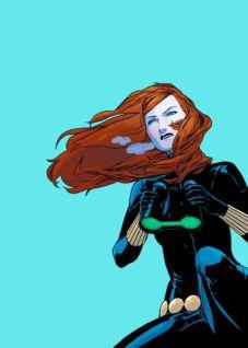 Black Widow color art