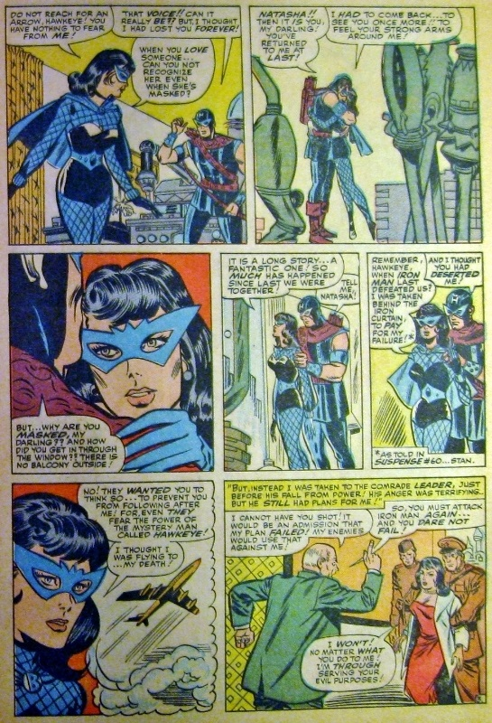 Black Widow returns to Hawkeye