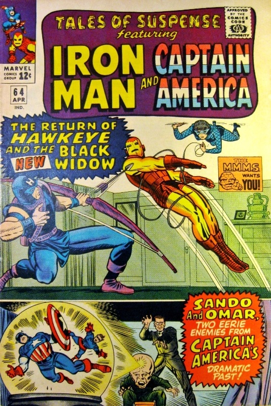 Cover for Tales of Suspense 64, first appearance of Black Widow in costume