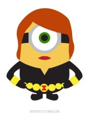 Black Widow as a minion from Despicable Me
