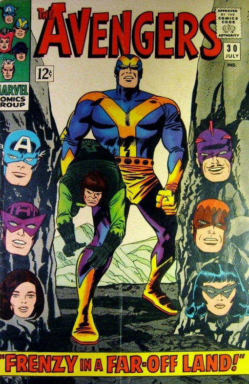 Cover of Avengers Volume 1, #30 with Black Widow