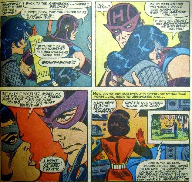 Black Widow reveals brainwashing to Hawkeye
