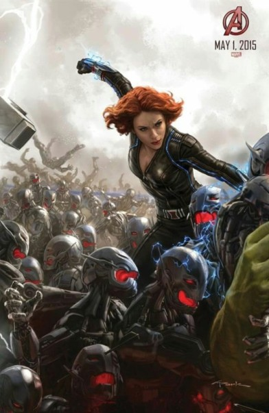 Black Widow painted poster