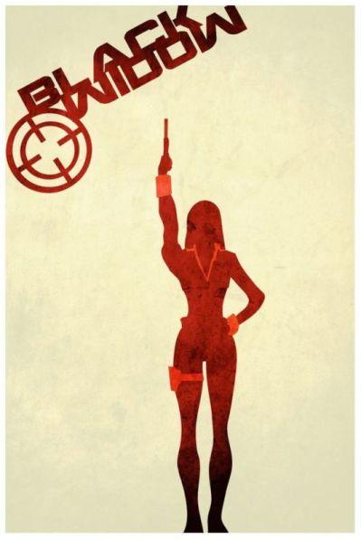 Black Widow minimalist poster by Harshness