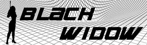 Black Widow graphic with gravity well