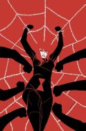 Black Widow caught in a spider web by Phil Noto