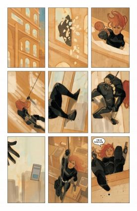 Black Widow panel art by Phil Noto