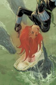 Black Widow upside down by Phil Noto