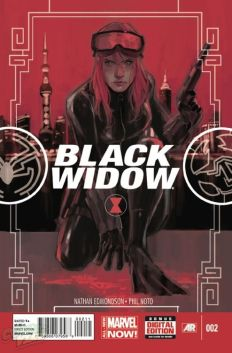 Black Widow cover art by Phil Noto