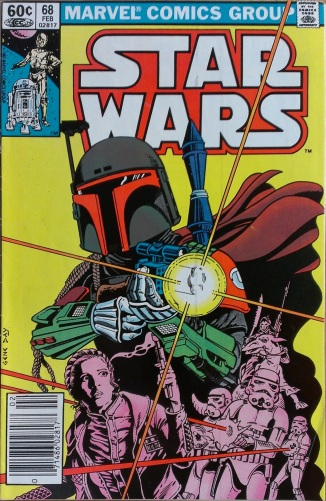 Star Wars #38 with Boba Fett. Cover art by Gene Day