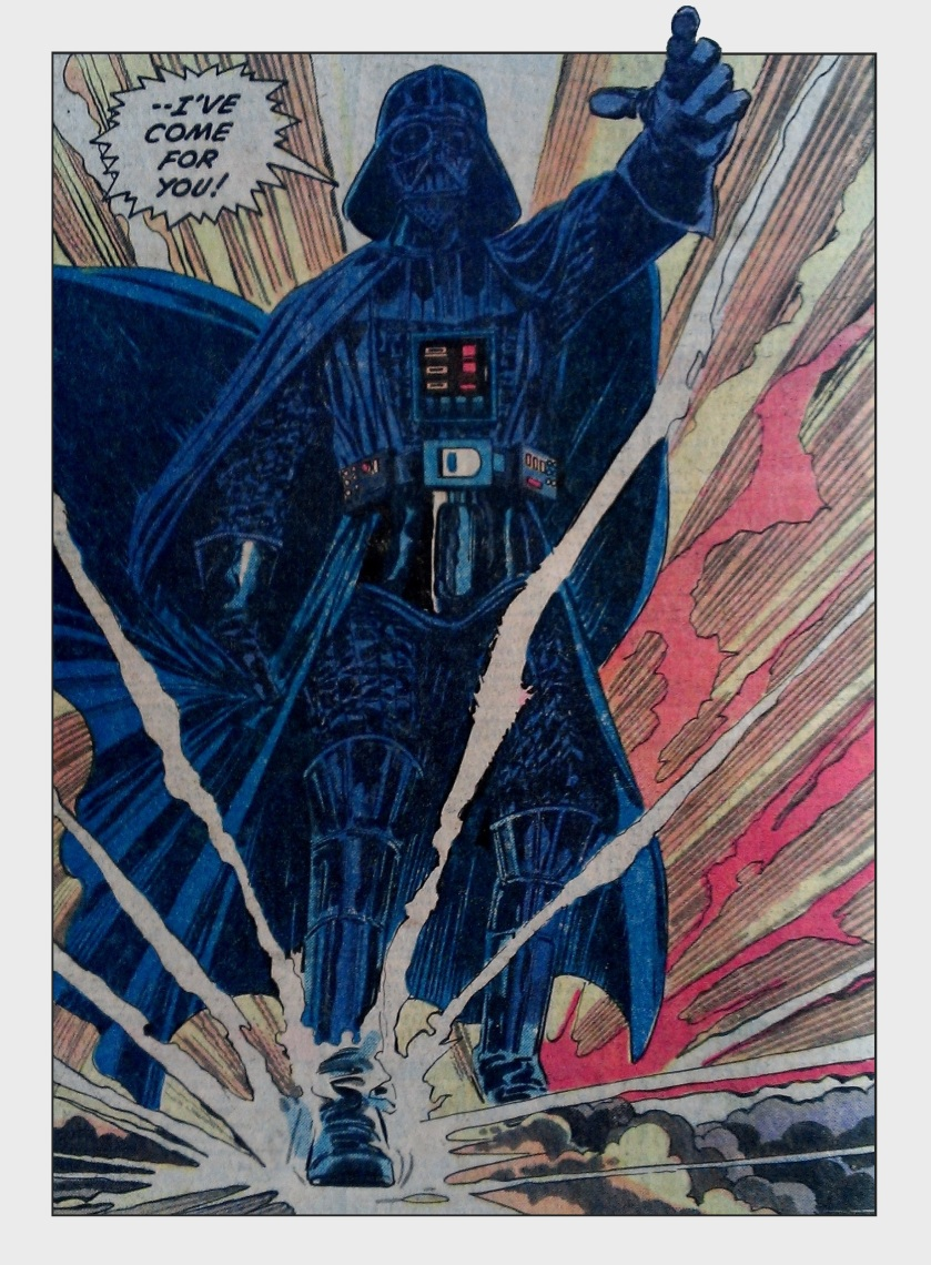 Splash panel with Darth Vader in Marvel Comics Star Wars