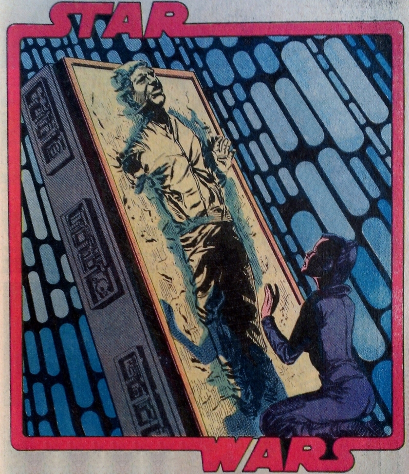 Han Solo in Carbonite with Leai