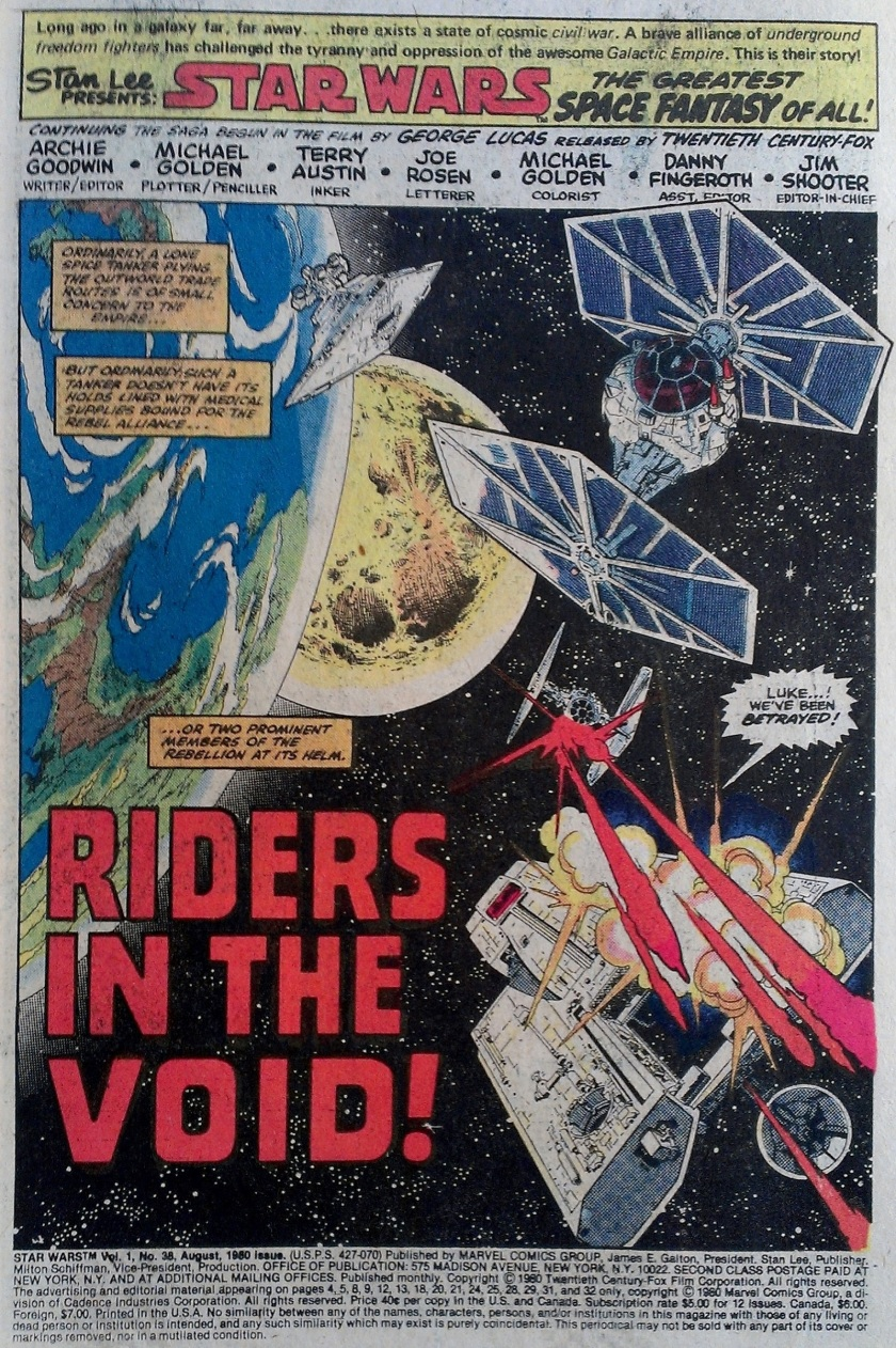 Star Wars splash page artwork by Michael Golden